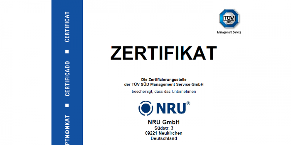Certification according to ISO 9001:2008